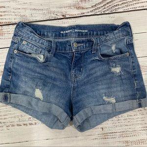 Old navy boyfriend cuffed denim shorts